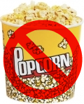 No popcorn sign
